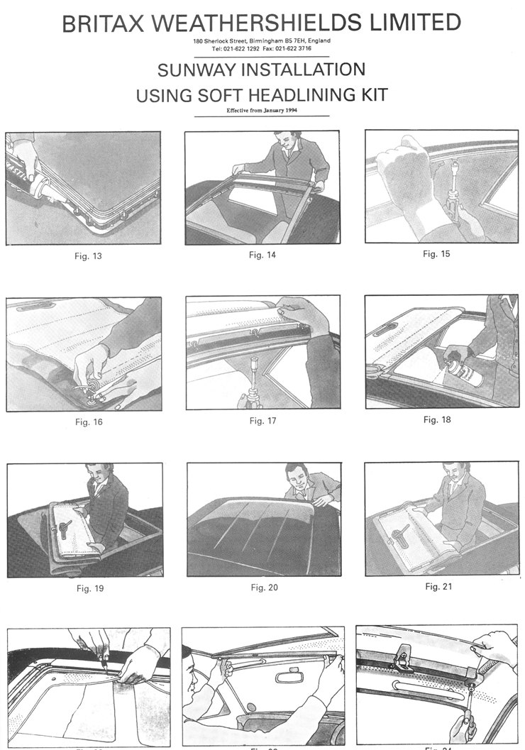 Britax Sunway Folding Roof installation Guide  - The